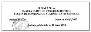 decizie ICCJ iunie 2012